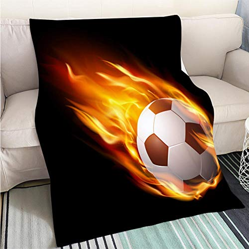 BEICICI Luxury Super Soft Blanket Soccer Ball in fire hot Football Match – Stock Vector Sofa Bed or Bed 3D Printing Cool Quilt