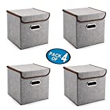 Best Packs With Lids - Storage Bins Pack of 4 Mee'life Storage Linen Review