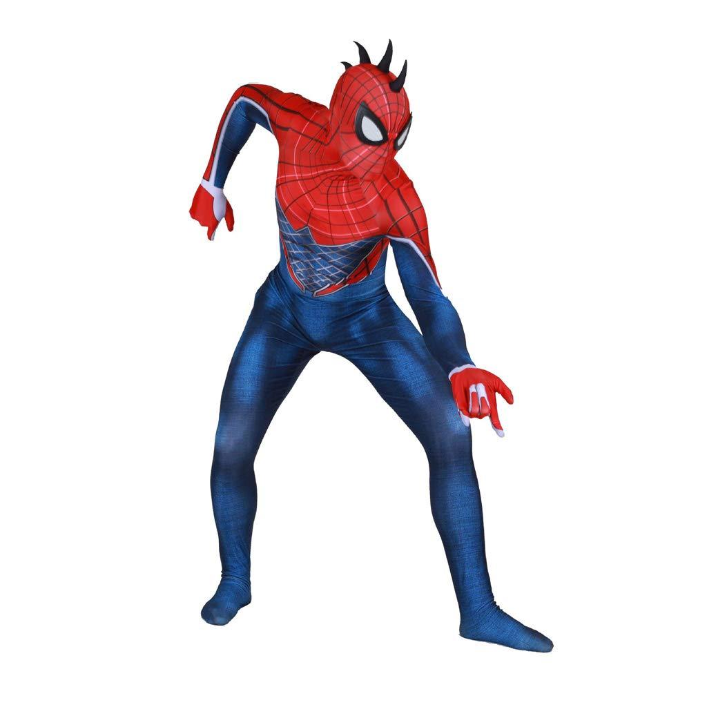bluee S Punk Spiderman Cosplay Costume Elastic Body Tights Halloween Movie Costume Props Fancy Dress Costume