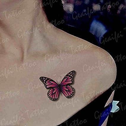 Zokey impermeable tatuaje temporal color de mariposa 3d simulación ...