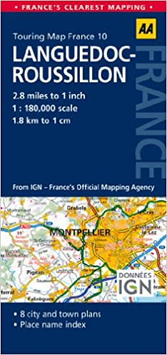 AA Road Map Languedoc-Roussillon (AA Touring Map France 10 ...