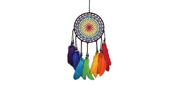 Amazon.com: Atrapasueños Euone de Navidad, arco iris, hecho ...