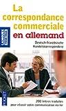Correspondance commerciale en allemand