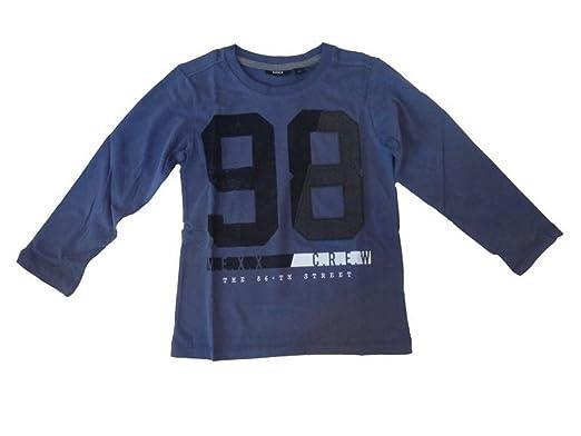 Mexx Shirt Baby Kinder T-Shirt Langarm blau Größe 86 Junge Neu