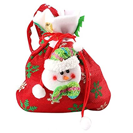 3d4e2601955b Amazon.com: H.S.D Bag-Santa Claus Gift Packing Candy Bag Draw String ...