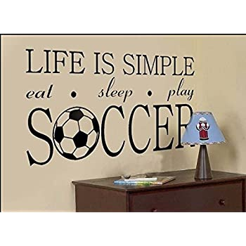 Beautiful World Cup Life Is Simple Eat Skeep Play Soccer Wall Decal Sticker Living  Room Stickers High