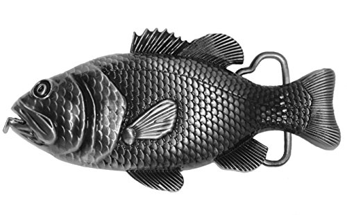 Bass Belt Buckle With Tape Measure 3D fish