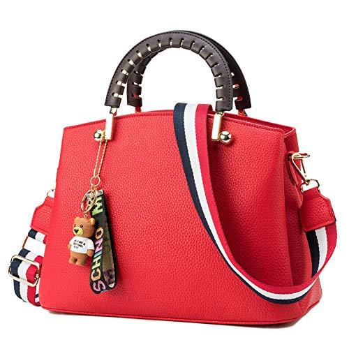 Sacs PU Sacs Bandoulière Les Red De Sacs Bag 23cm Womens Handle 13 Dames Top 31 Messenger Cuir Main Totes Body Pour Travail Cross à à 6qnFd7IWFw