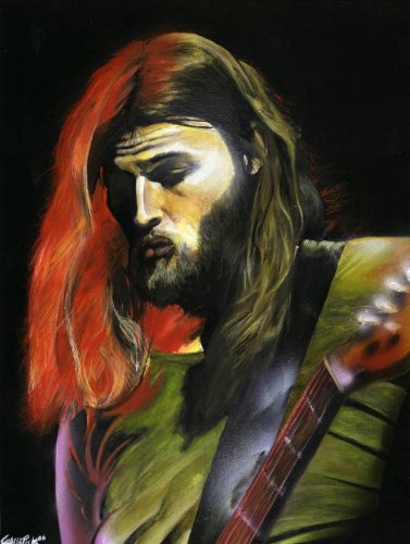 Pink Floyd David Gilmour Original Poster Art Print Signed and Numbered By Artist Charlie