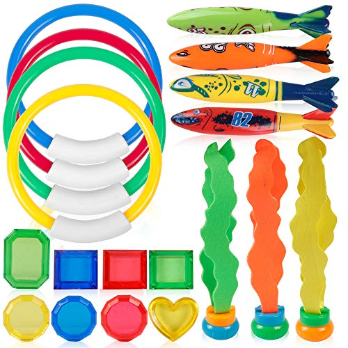 Coogam Diving Toy 19PCS Pool Accessories Set 4