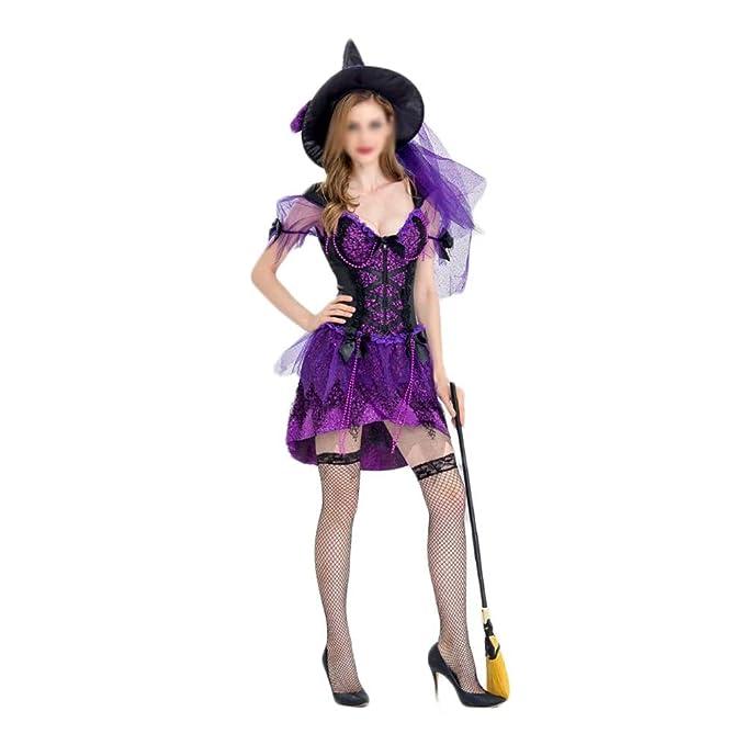 ZSRHH-Falda Vestido de Mujer Bola púrpura de la Bruja de ...