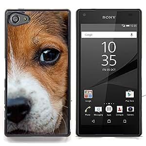 Ihec Tech Nariz del perrito del beagle Ojos del perro del bebé / Funda Case back Cover guard / for Sony Xperia Z5 Compact Z5 Mini (Not for Normal Z5)