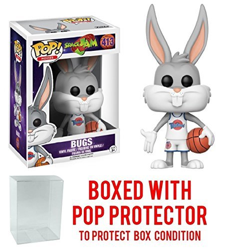 Funko POP Movies Space Jam Bugs Bunny with Free Pop Protector!