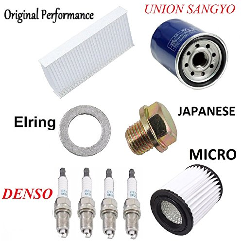 Tune Up Kit Cabin Air Oil Filters Spark Plugs for Acura RSX Base; L; K20A3 Eng 2002-2003