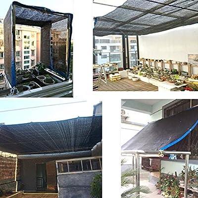 CHENGXI Parasol Neto Patio Anti-Polvo Cubierta, Jardín Anti-UV Protector Solar Protector Solar Neto Balcón Pergola 20·04·29 (Color : Black, Size : 5×9m): Amazon.es: Jardín
