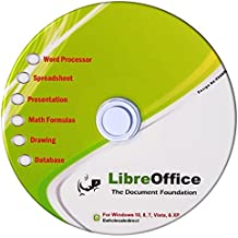 Libre Office Suite for Windows 10 8 7 Vista XP - PC Software and Computer Guide - Alternative to Microsoft Office - Compatible with Word, Excel and PowerPoint