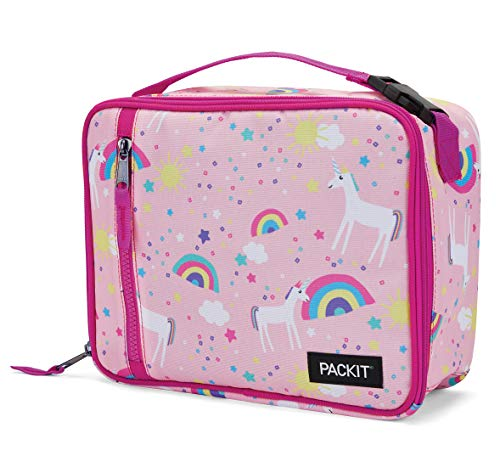 PackIt Freezable Classic Lunch Box, Unicorn Sky Pink ()