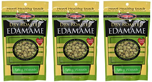 Seapoint Farms Dry Roasted Edamame, Wasabi, 3.5-Ounce Pouches