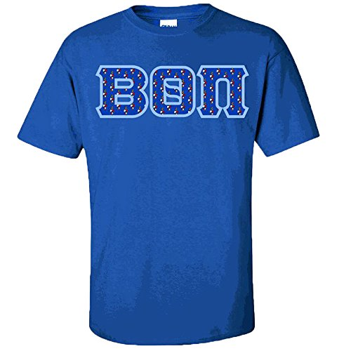 Express Design Group Beta Theta PI Fraternity Crest Twill Letter Tee Large Royal Blue -