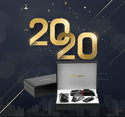 Bstcentelha pour Homme Cuir synthétique à Quartz analogique Montre Bracelet Ceinture Porte-clés Coffret Cadeau Lunettes…