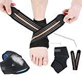 Unisex Ankle Brace Sport Gym Compression Foot Sleeve Injury Recovery Personal Care & Fitness Protector UPS Post (One Pair, One Size)