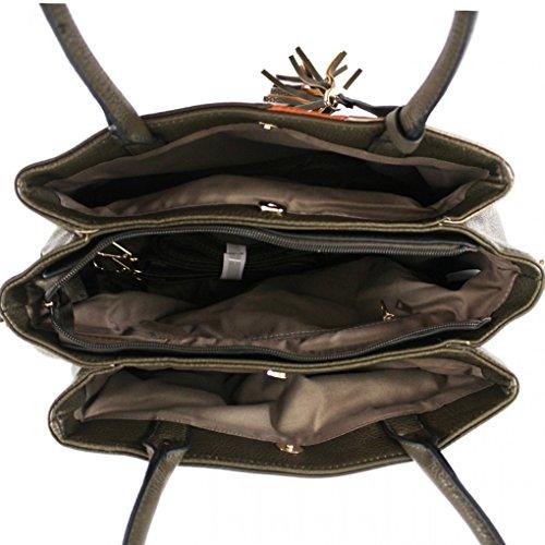 Handbags Black Large Bag Leahward Tassel For Bags Quality Women's 0010 Shoulder School Women Tote Size tB6taHq