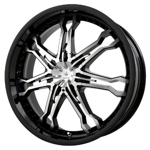 Verde Custom Wheels Calibre Gloss Black Wheel with Machined Spoke (18x7.5/4x100 mm) (Cars Rims For Custom)
