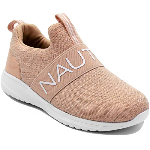 Nautica Kids Girls Fashion Sneaker Running Shoes - Little Kid/Big Kid-Canvey Girls-Apricot Sparkle-4