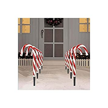 Amazon candy cane lights stake indoor outdoor christmas new candy cane lights stake indoor outdoor christmas new aloadofball Images