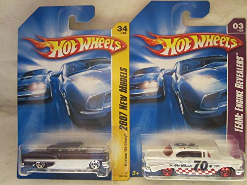 Hot Wheels Custom '53 Chevy & '57 Chevy Die Cast 1/64 Scale 2 Car Bundle!