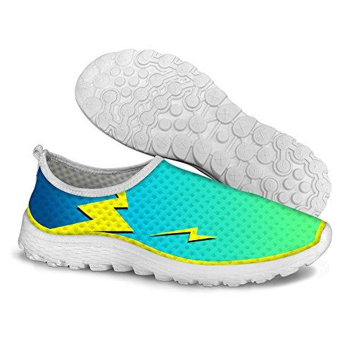 Pour U Conceptions Cool Respirant Maille Athlétique Espadrille Chaussures De Course Femmes Vert 2