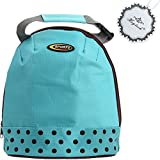 Cheap Lunch Bag, Hxytech Insulated Cooler Picnic Outdoor Portable Lunch Summer Food Beverage Storage Tote Bag- Blue