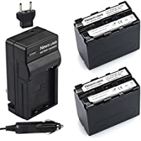 Newmowa NP-F960 Battery (2-Pack) and Charger kit for Sony NP-F975,NP-F970,NP-F960,NP-F950
