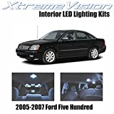 XtremeVision Ford Five Hundred 2005-2007 (5 Pieces) Cool White Premium Interior LED Kit Package + Installation Tool