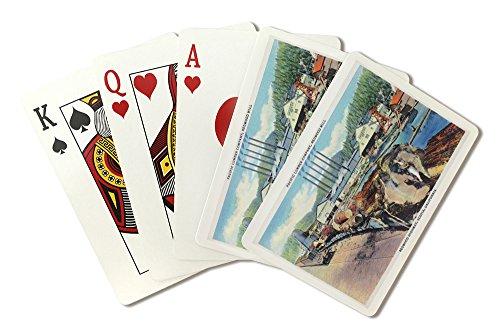 (Scotia, California - Exterior View of Pacific Lumber Co, Redwood Mill (Playing Card Deck - 52 Card Poker Size with Jokers))