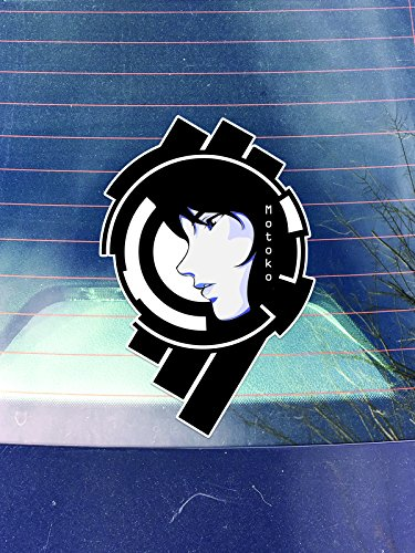 PD028 2-Pack Motoko Section 9 Decal Sticker | 5.5-Inch By 3.5-Inch Premium Quality Vinyl Decal Sticker