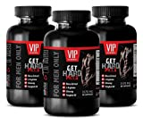 Men Testosterone Booster for Sex Drive - GET Hard Pills - for Men ONLY - Tongkat ali Extract Extra Strength - 3 Bottles 180 Capsules