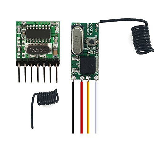 Wireless Remote Control Lights Switches 12V 24V Led Lighting Power Switch Small 433Mhz Rf Receiver Module & 4Ch Transmitter