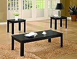 Living Room Furniture Sets Coaster Home Furnishings Transitional Living Room 3 Piece Set, Black