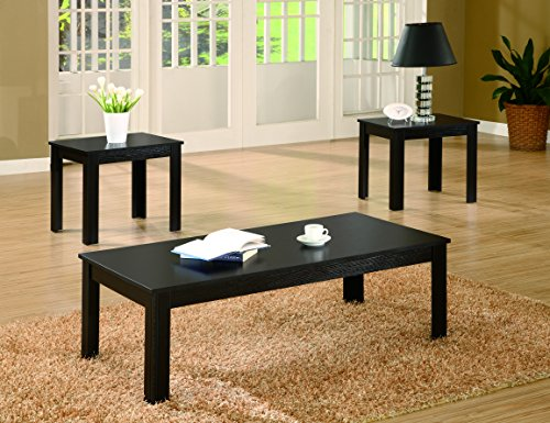 Coaster Home Furnishings Transitional Living Room 3 Piece Set, Black
