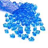 decorative gem blue - Acrylic Gems Ice Crystal Rocks for Vase Fillers, Party Table Scatter, Wedding, Photography, Party Decoration, Crafts by Royal Imports, 3 lbs (Approx 580-600 gems) - Dark Blue