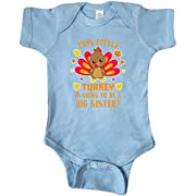 inktastic This Little Turkey is Going to be Infant Creeper 12 Months Baby Blue