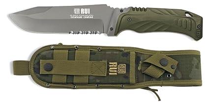 Amazon.com: Tactical cuchillo de hoja fija K25 verde con ...