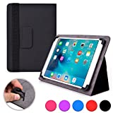 Acer Iconia Tab A500, A501, A510, A511, W3, W4-820 folio case, COOPER INFINITE ELITE Business School Travel Carrying Portfolio Case Protective Cover Folio with Built-in Stand (Black)