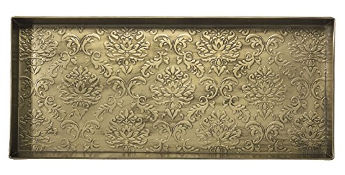 HF by LT Damask Pattern Metal Boot Tray, 30