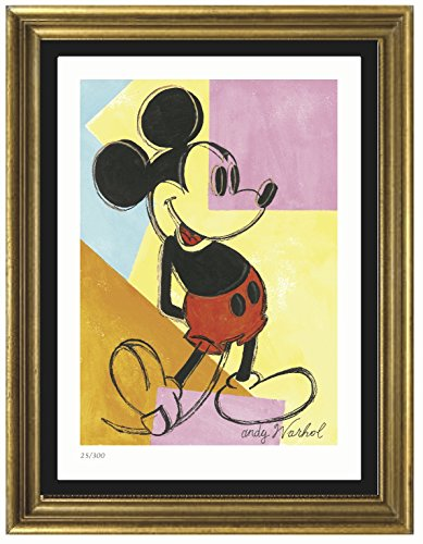 Andy Warhol Mickey Mouse - Andy Warhol Signed & Hand-numbered Limited Edition Lithograph Print,