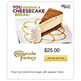 The Cheesecake Factory You Deserve a Cheesecake Break White Gift Cards - E-mail Delivery