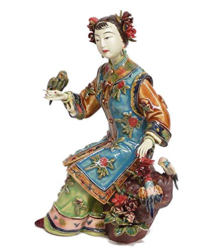 - The Oriental Great Beauty Lady Bird Chinese Porcelain Lady Figurine Collection