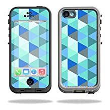 MightySkins Protective Vinyl Skin Decal for LifeProof iPhone 5C Case fre Case wrap cover sticker skins Blue Kaleidoscope