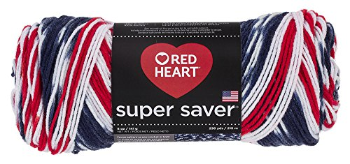 Medium Red Heart - Red Heart Super Saver Yarn E300.3943, Americana, Print